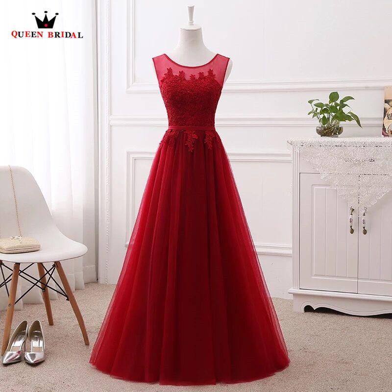 A-line Lace Tulle Evening Dresses Long Formal Elegant Many Colors 100% Real Photo Party Dress Evening Gown Vestido de Festa DR04
