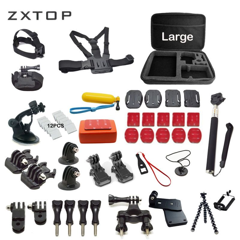 Kits for Gopro Accessories set For go pro hero 6 5 4 3 Monopod For SJCAM EKEN H9 H9R H8 H8R SOOCOO C30 S100 C100
