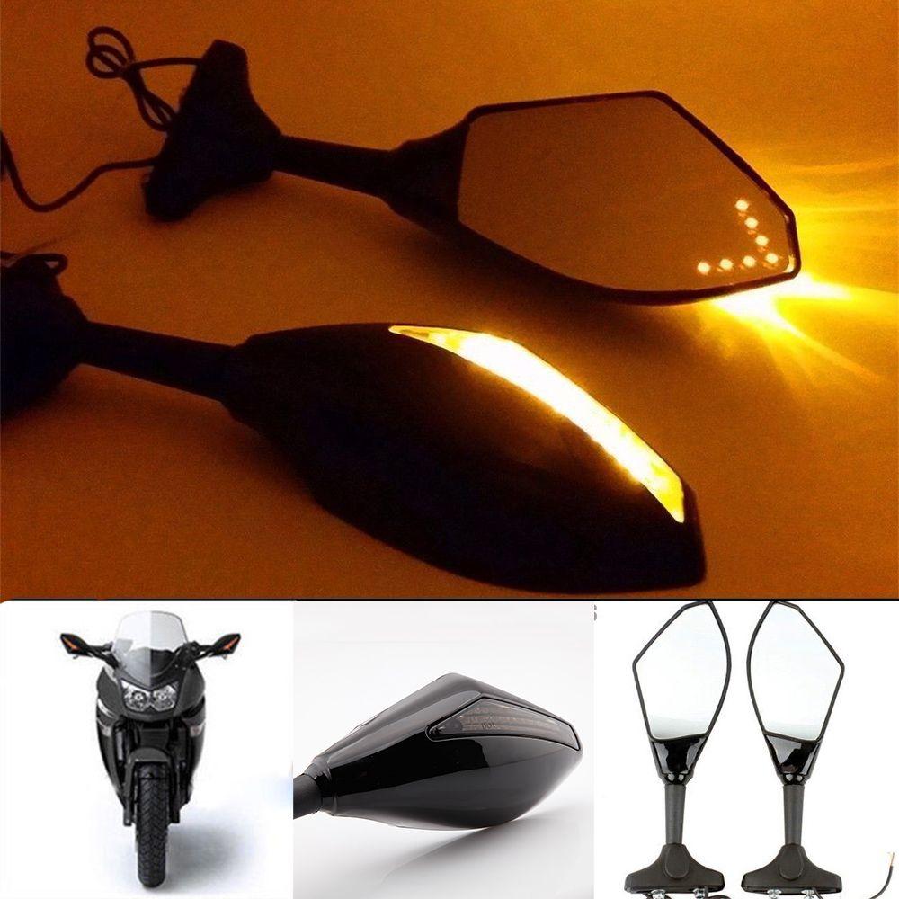 Nouveau LED Clignotants Clignotants Moto rétroviseurs latéraux rétroviseur Clignotants Moto pour Honda CBR 250 600 900 1000 RR