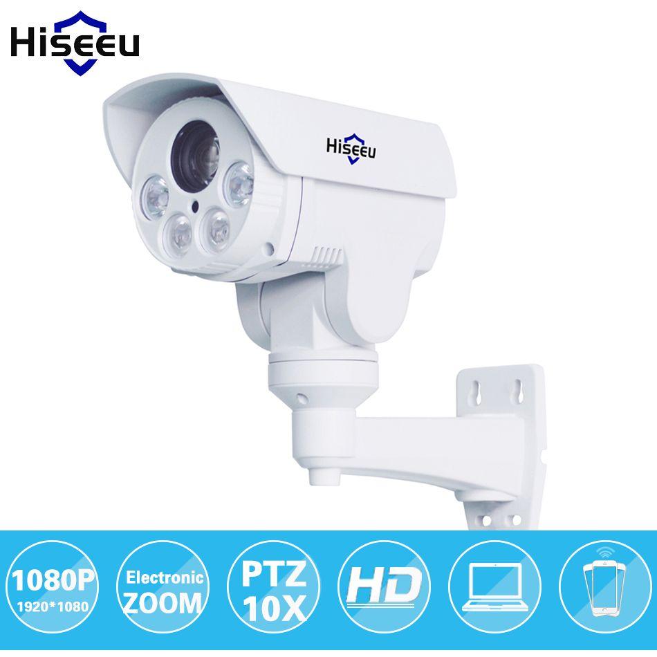 HD 1080 p 10X Zoom PTZ IP Caméra Bullet HD Projet Vision Nocturne Étanche IRCUT ONVIF P2P ONVIF POE HD402 hiseeu HD402