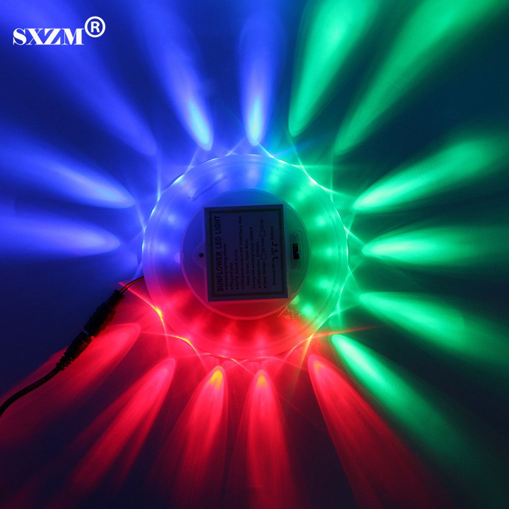 SXZM DC5V 8 Watt GEFÜHRT Bühne Licht RGB farbe Auto Sound Actived USB powered für KTV Bar Dj Tanzen Rotierenden 48 LEDs