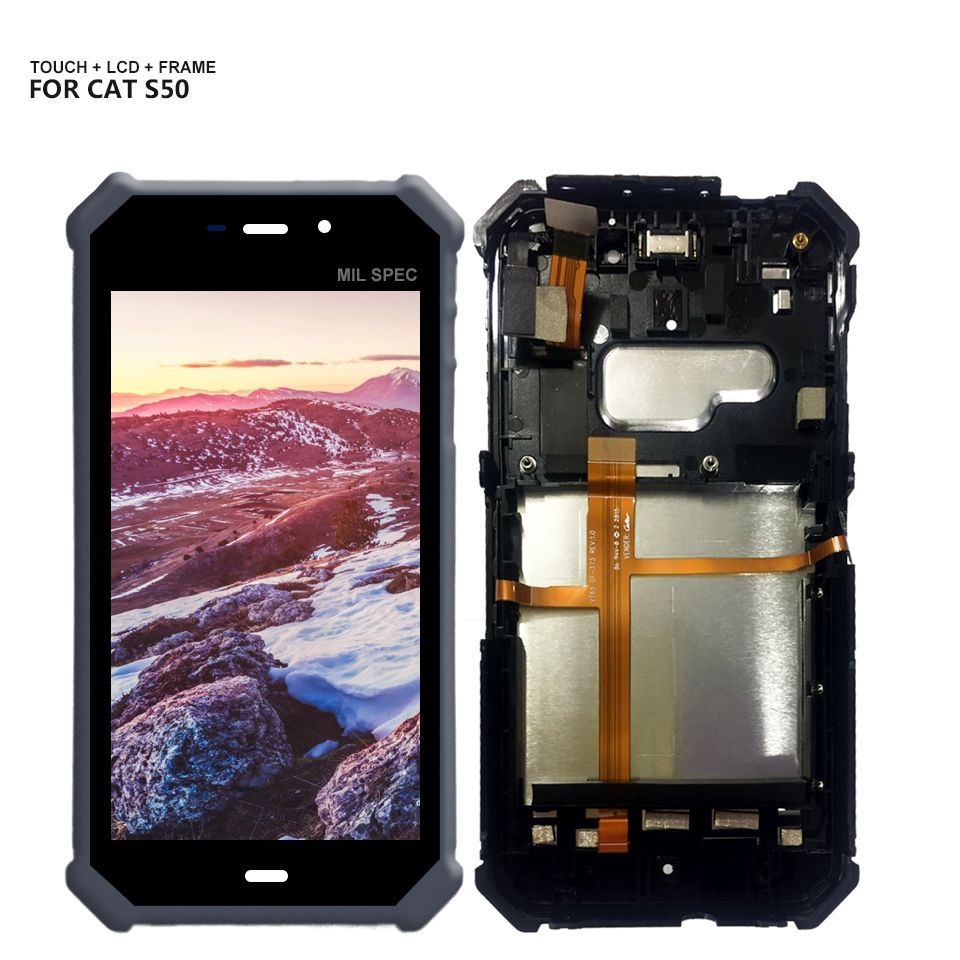 For CAT S50 LCD Display Touch Screen Digitizer Glass Panel Assembly + Tools