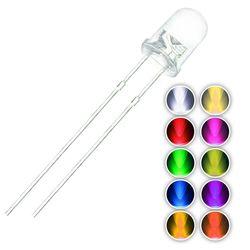 100 Buah/Banyak F3 10 Warna 3 Mm Bulat Hijau/Kuning/Biru/Putih/Merah/Putih /Orange/Ungu/Pink/Kuning Hijau LED Dioda Cahaya Kit