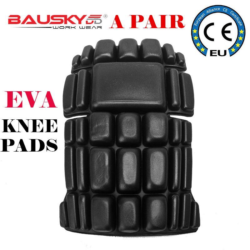 Bauskydd пара eva наколенники для колени вниз работы Штаны Съемная защита колена Съемный наколенники Бесплатная доставка