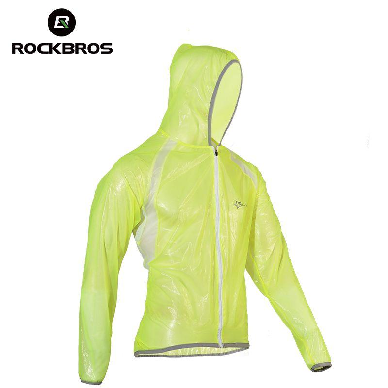 ROCKBROS MTB Cycling Jersey <font><b>MultiFunction</b></font> Jacket Rain Waterproof Windproof TPU Raincoat Bike Bicycle Equipment Clothes 3 Colors