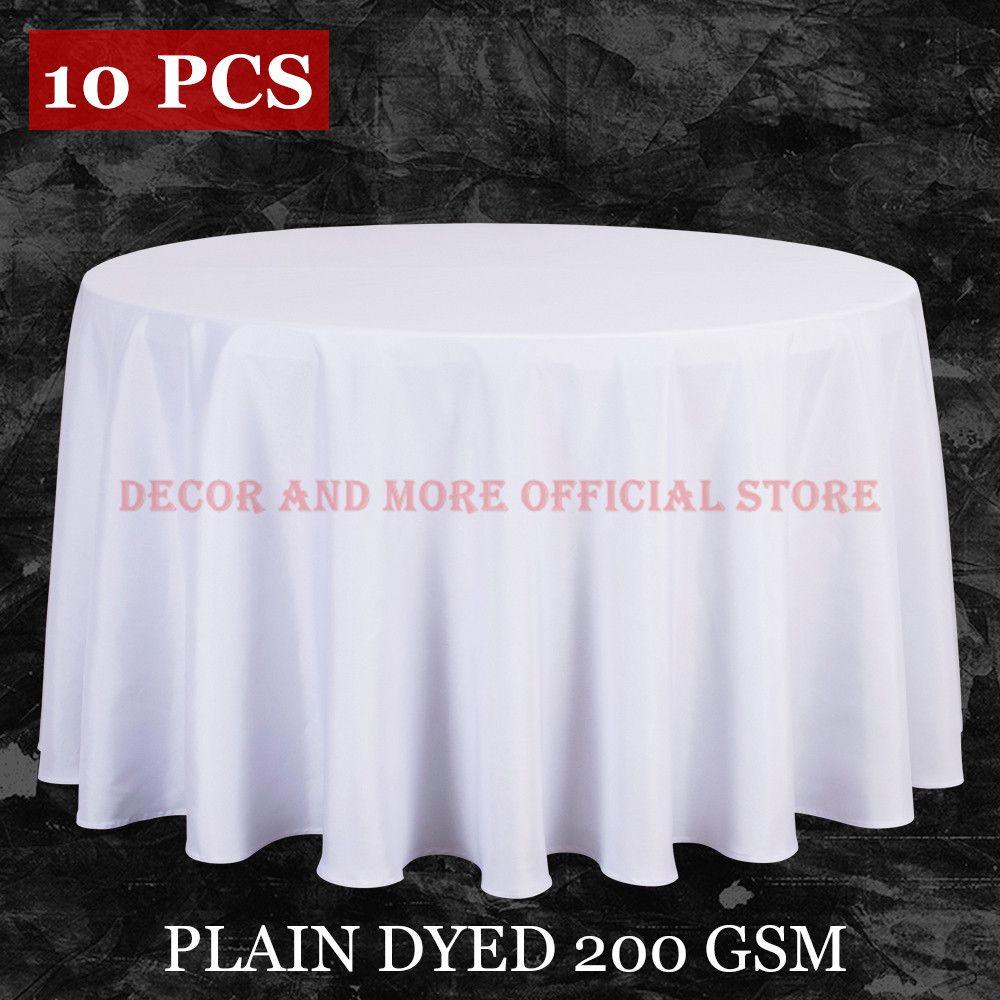 10 PCS/LOT en gros Polyester nappe ronde pour mariage hôtel décor blanc nappe carrée linge de Table Table à manger couverture