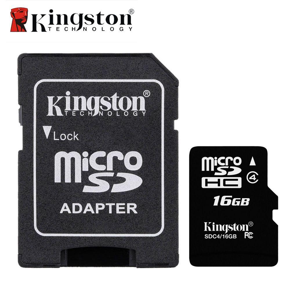 Kingston Micro SD Carte Mémoire Carte 8 GB 16 GB Classe 4 Microsd Cartao de Memoria Tarjeta Micro SD pour MicroSDHC TF Flash Dispositif