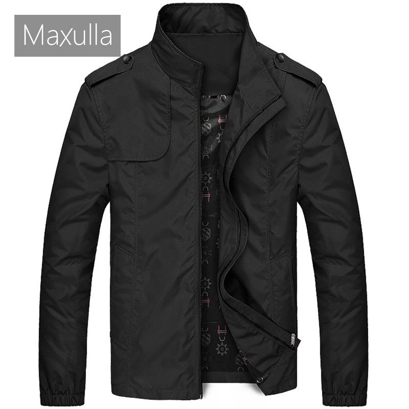 Maxulla Mens Jacket Spring Mens Casual Outwear Slim Fit Thin Coat Male Fashion Hip Hop Anorak Jackets Men Bomber Jackets 4XL