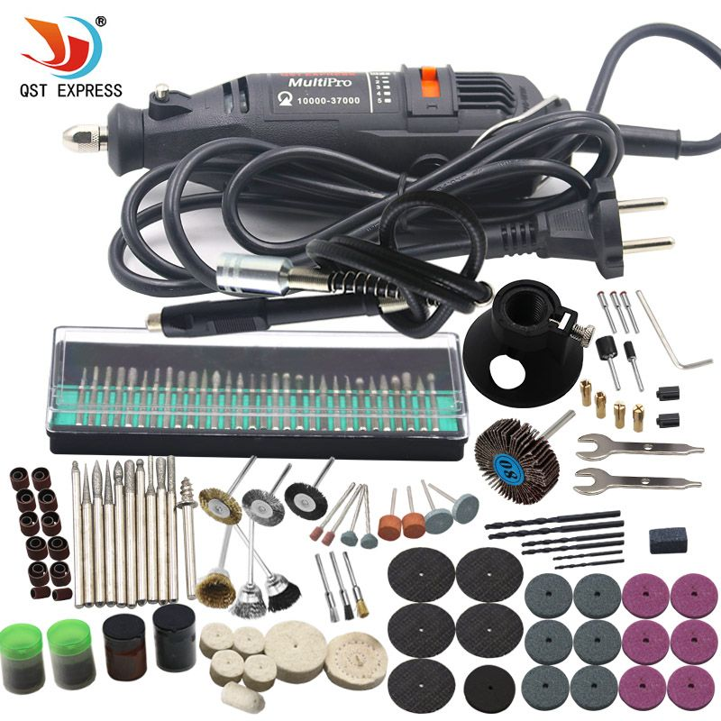 180W Electric Mini Drill 220V Variable Speed Rotary Tool With 193pcs Power Tools Accessories For Dremel Mini Grinder