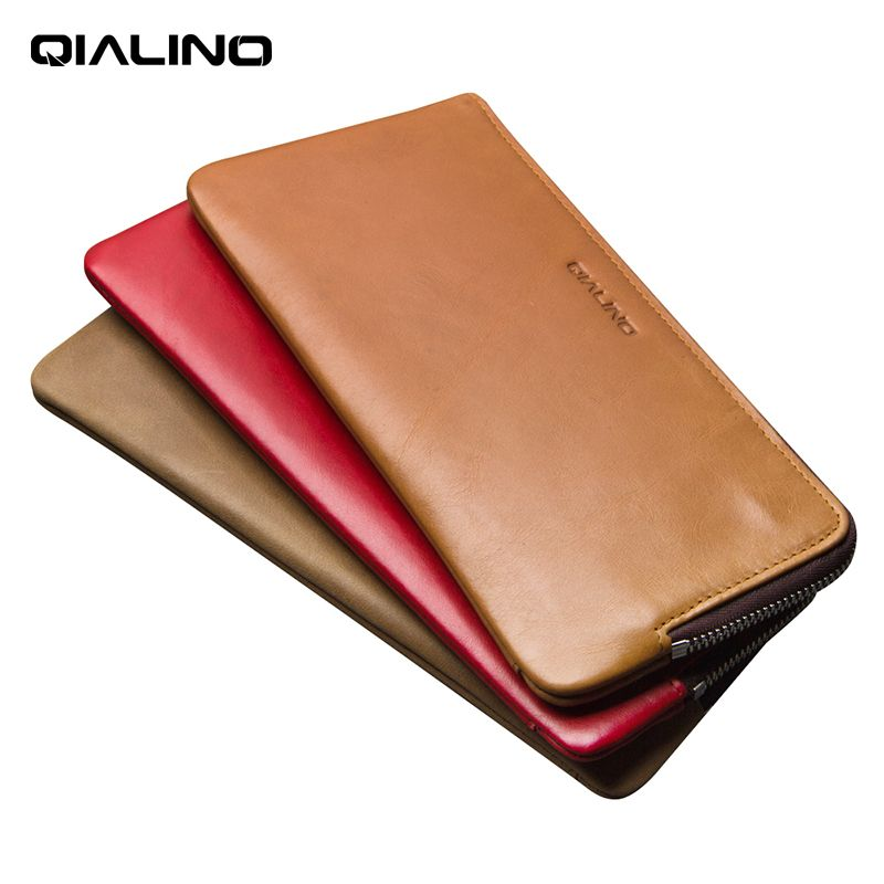 QIALINO 2017 Wallet Cover for iphone 7 & iPhone 7 plus Handmade Genuine Leather Case for iPhone 7 slots for cards 4.7/5.5 inch