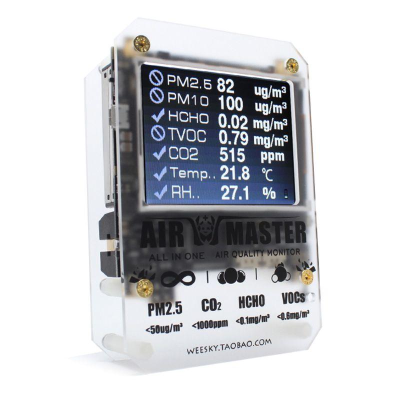 Neue Air Master 2 AM7 p indoor air qualität detektor/monitor/Laser pm2.5/7in1 mit high- ende gas sensoren tester/offizielle einzelhandel