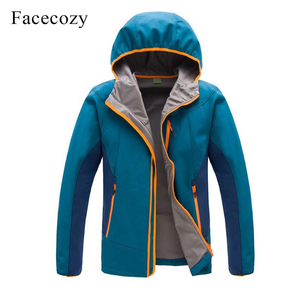 Facecozy Для мужчин уличные осенние дышащие Лоскутные Пеший Туризм флисовая куртка с капюшоном Термальность Рыбалка пальто