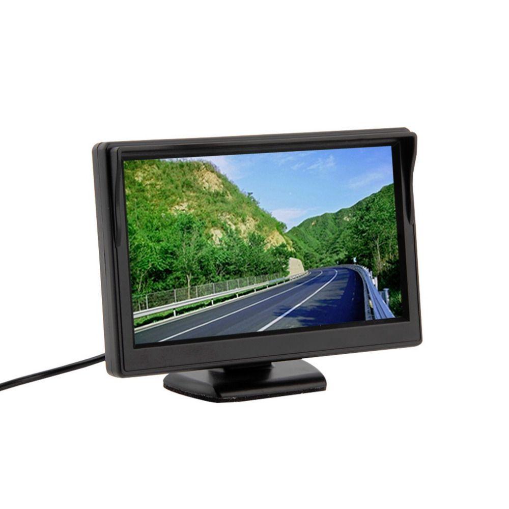 5 дюймов Цвет TFT ЖК-дисплей мини заднего вида Мониторы Парковка заднего Мониторы Экран для DVD VCD обратный Камера Бесплатная доставка