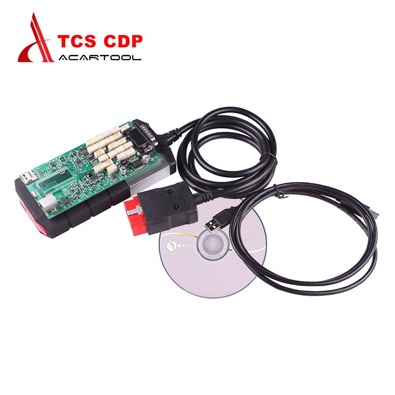 2018 Best Quality TCS cdp Single Green PCB board CDP PRO 2014.2 Software with Keygen for Car and Trucks Diagnostic Tool
