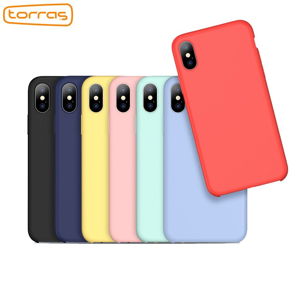TORRAS liquid silicone phone case for iphone x cover protective phone case microfiber fashion luxury case for iphone x 8 7 plus