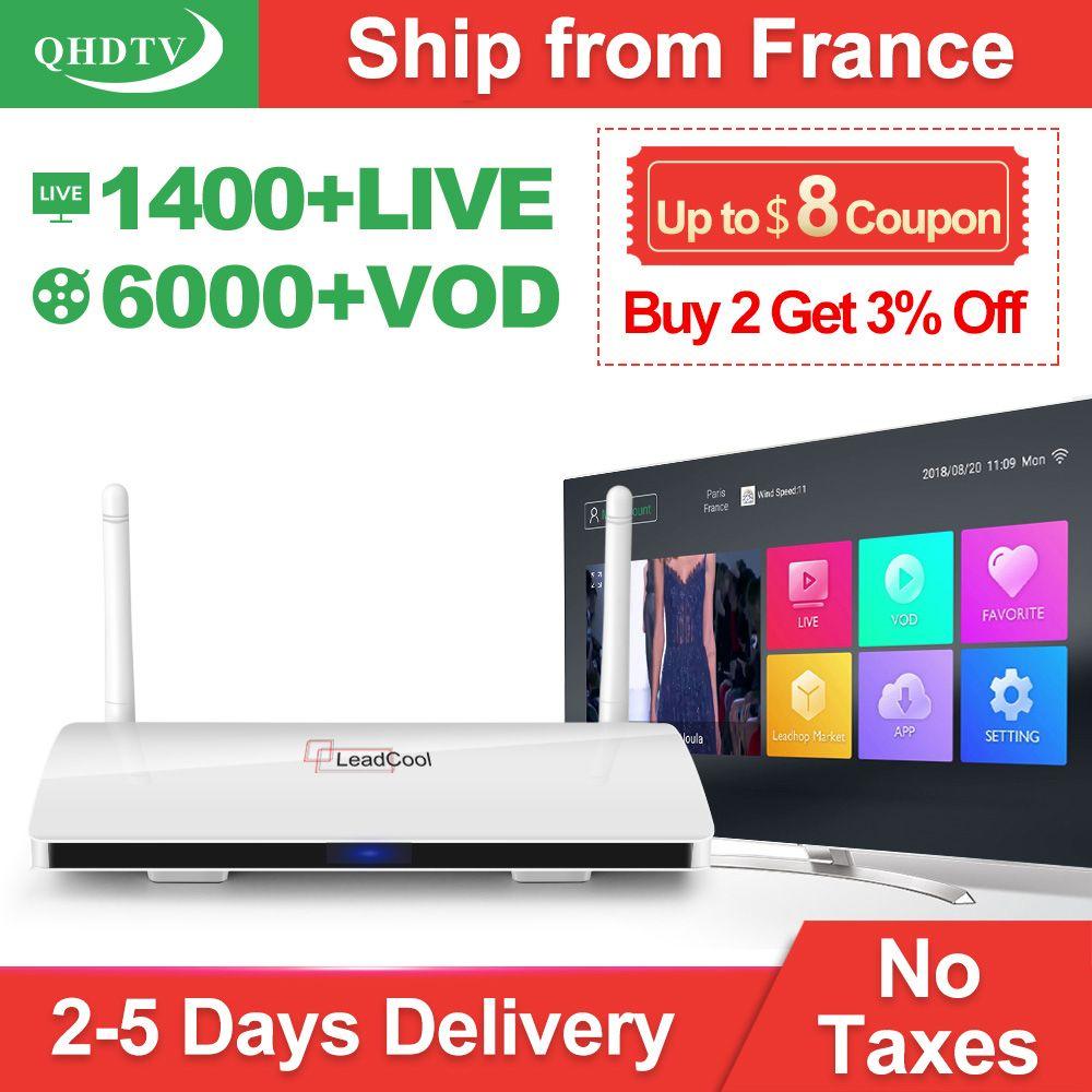 Leadcool arabe IPTV France QHDTV 1 an Android Rk3229 IPTV abonnement QHDTV France belgique arabe pays-bas récepteur de télévision