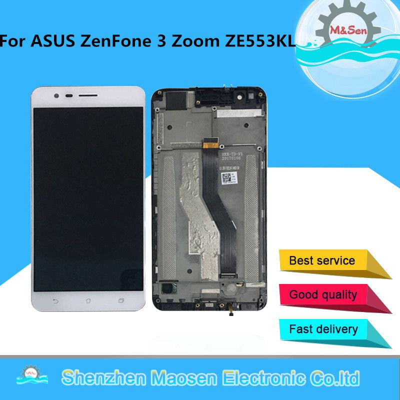 M&Sen OLED For ASUS ZenFone 3 Zoom ZE553KL ZE553 Z01HDA LCD screen display+ Touch Digitizer with frame for ZE553KL ZE553 Z01HDA