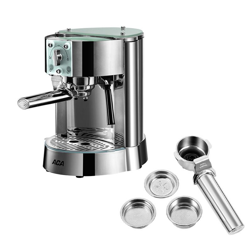 AC-EG10B Italian Home Semi-automatic Coffee Machine 15bar Pump Pressure Stainless Steel 42 Seconds To Warm Up