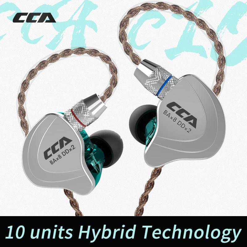 AK Audio CCA C10 4BA + 1DD 10mm Einheit Hybrid 2PIN In Ohr Kopfhörer HIFI DJ Monito Laufschuhe Sport kopfhörer Headset Ohrhörer Kopfhörer