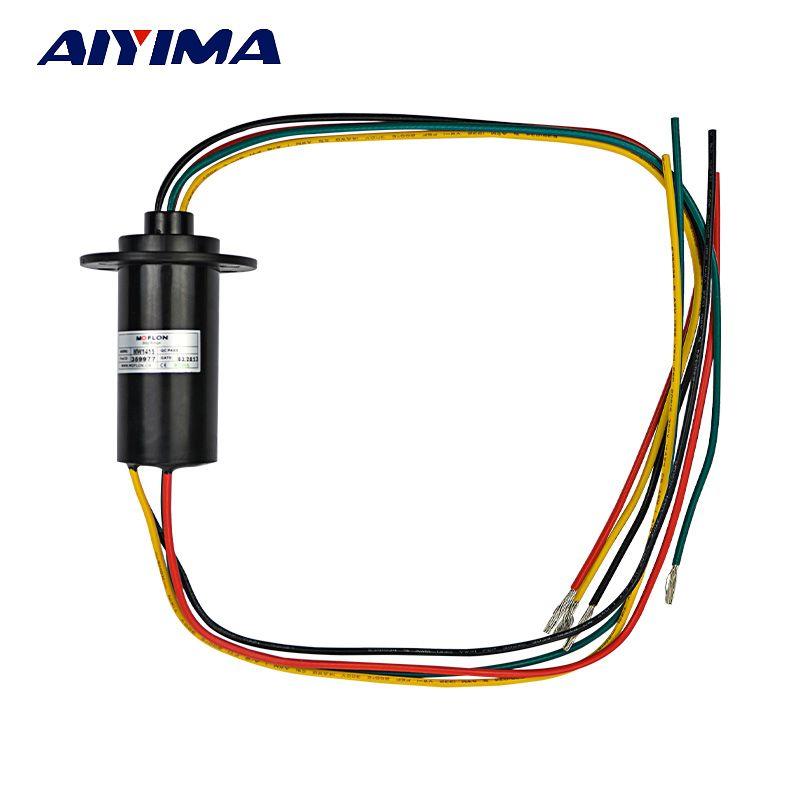 Aiyima nouvelle bague collectrice conductrice de générateur de vent de 4 fils 15A 600 VDC/VAC pour l'éolienne