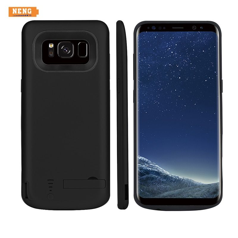 NENG  6500mAh Power Bank Backup with Stand(6.2 inch) Battery Charger Case Pack External Cover for Samsung Galaxy S8 Plus