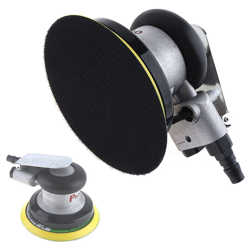 5 Inch Non-vacuum Matte Surface Circular <font><b>Pneumatic</b></font> Sandpaper Random Orbital Air Sander Polished Grinding Machine Hand Tools