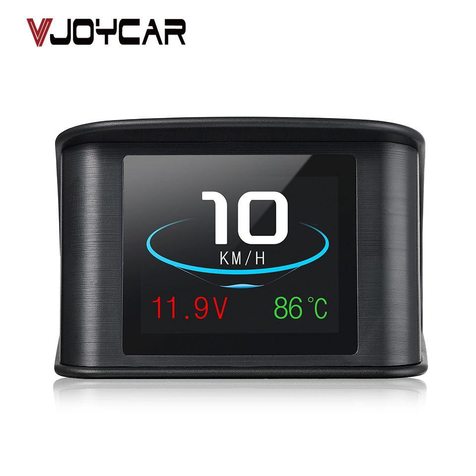 VJOYCAR Hud GPS OBD Computer Car Speed Projector Digital Speedometer Display Fuel Consumption Temperature Gauge Diagnostic Tool