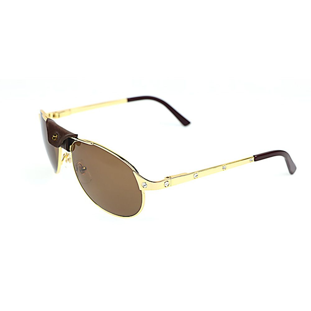 Oval Sunglasses Men Santos Rivet Glasses Frame Luxury Eyeglasses for Driving Club Retro Style Metal Frame Sunglasses Shades 554