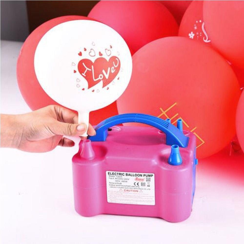 Portable Electric Balloon Pump Lightweight Ballon Inflator 600W Twin Nozzles Hot
