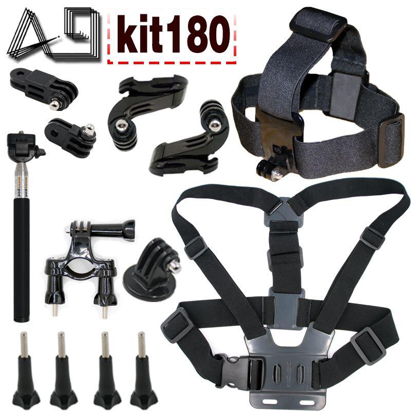A9 for body tripod monopod head strap mount for Gopro 5 4 3 set for Xiaomi yi 4k and SJcam SJ4000 SJ9000