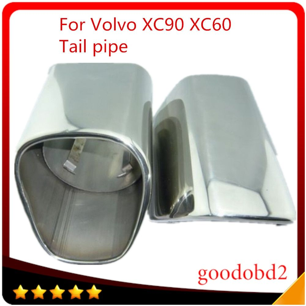 Muffler Tip Stainless Steel Exhaust Muffler Exhaust Pipe Car Tail Pipes Fit For VOLVO XC90 XC60 tail pipes auto Car accessories