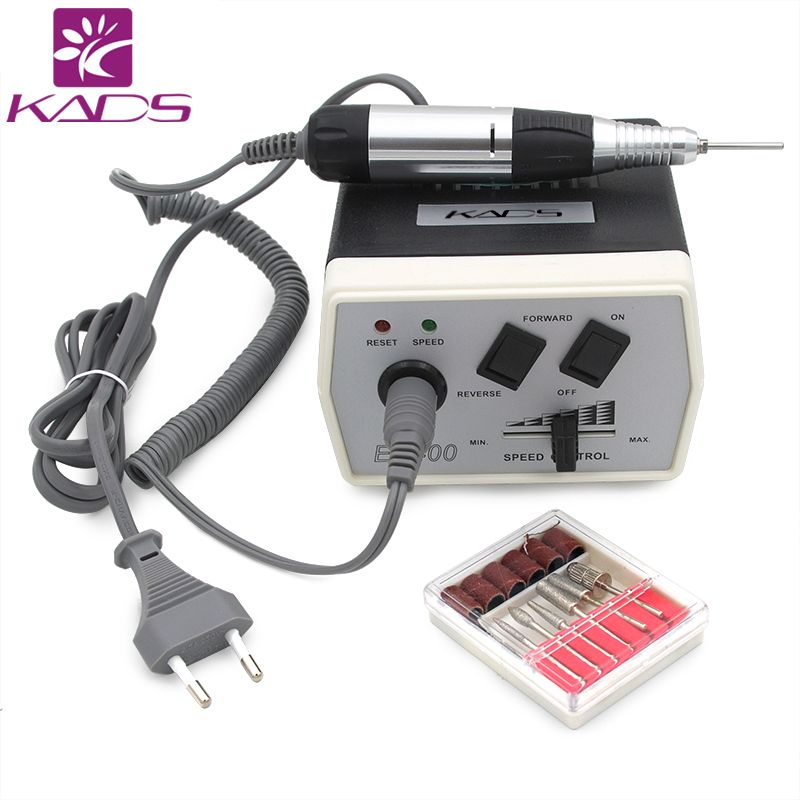 35W Black Pro Electric Nail Art Drill Machine Nail Equipment Manicure Pedicure Files Electric Manicure Drill & Accessory
