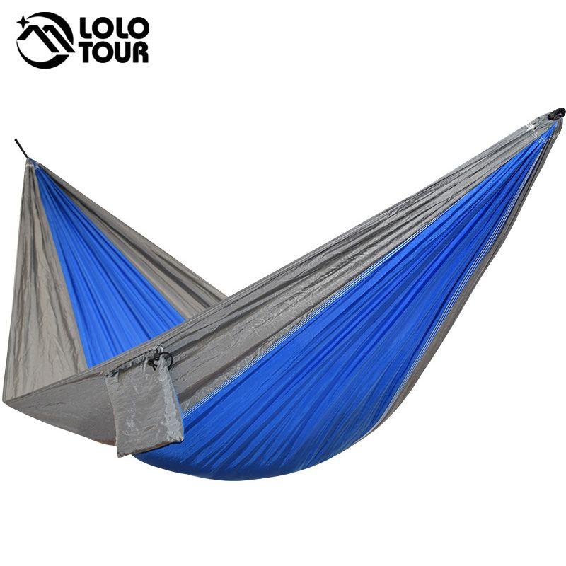 Portable une personne parachute Hamac Balançoire d'intérieur en plein air Loisirs Camping coup Lit Jardin hamak de Couchage hamac hamaca 230*90 cm