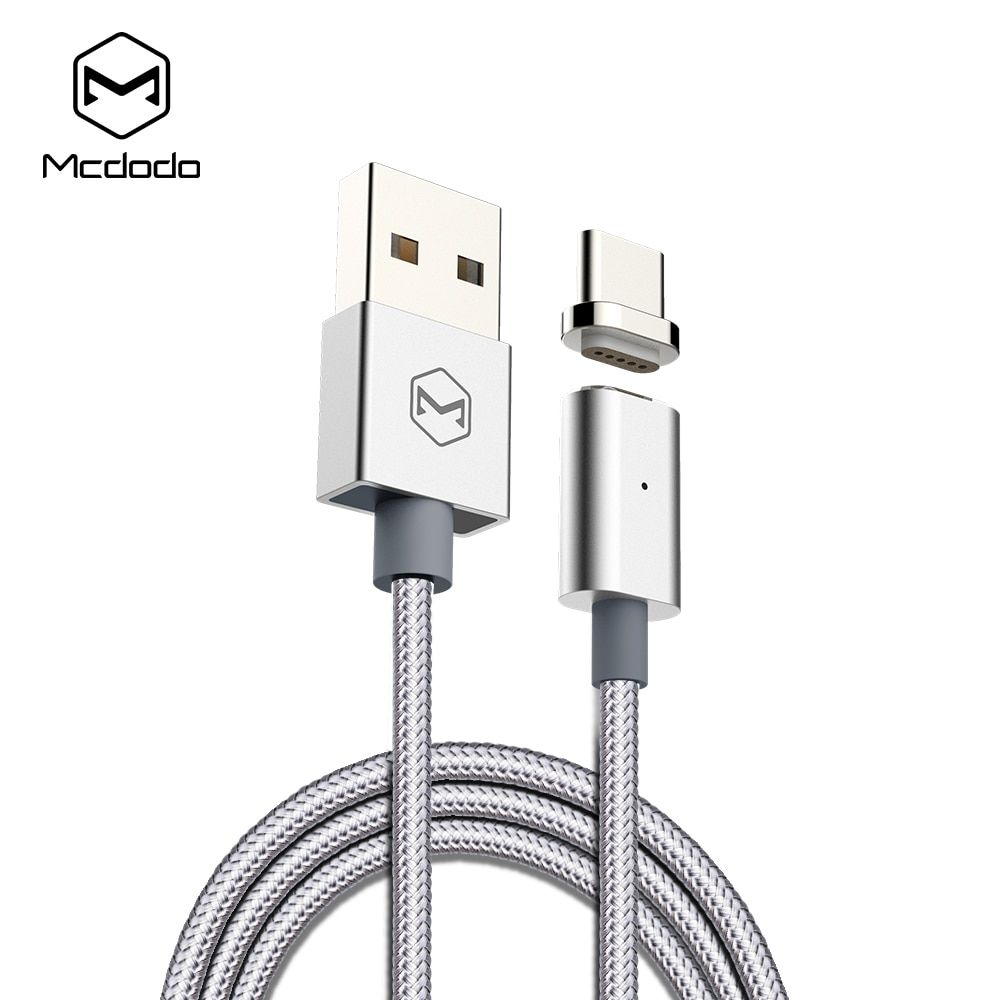 Mcdodo USB Type C cable Fast Charging Type-c Magnetic Cable for Samsung Xiaomi OnePlus 5 Huawei LG USB C With Led Charging Cable