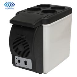 6L Réfrigérateur De Voiture Portable Véhicule Réfrigérateur Glacière Électrique De Refroidissement Et Le Réchauffement à Double usage Cuisine Ménage Blanc 12 V DC