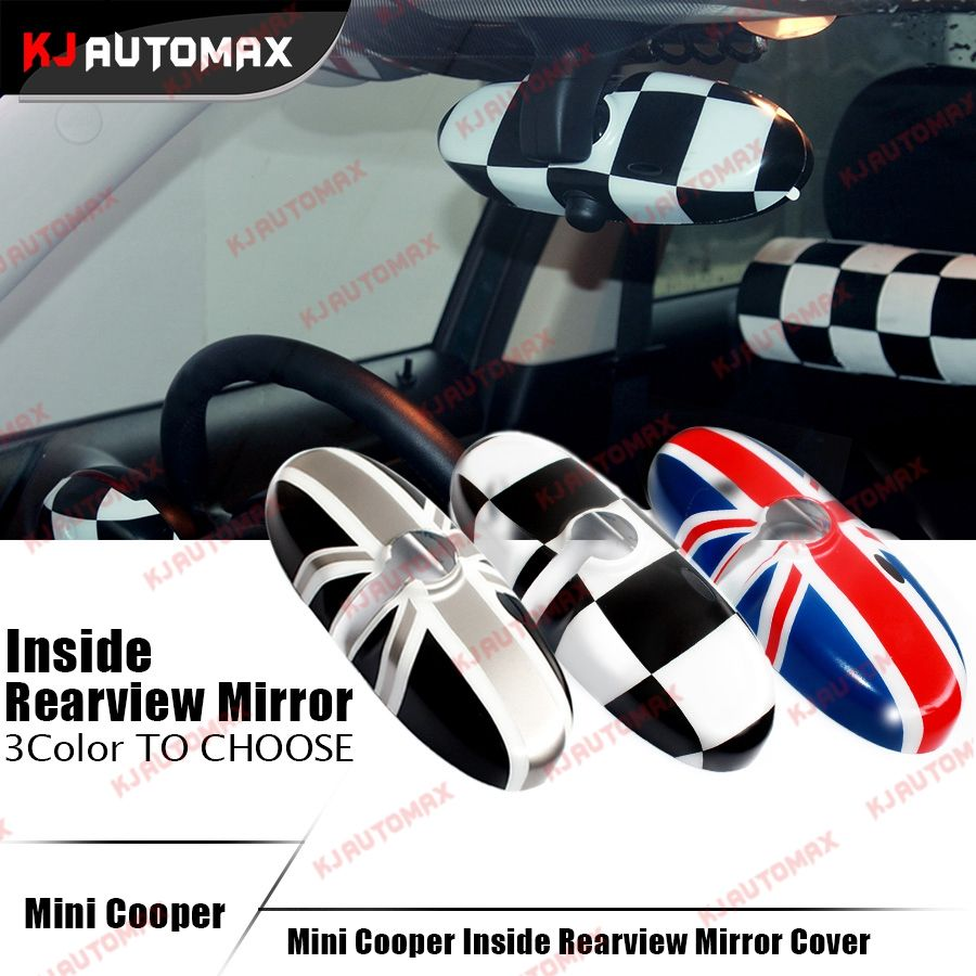 Interior Rearview Mirror Cover Cap Shell For Mini Cooper One S Countryman R55 R56 R57 R60 R61 Union Jack accessories sticker