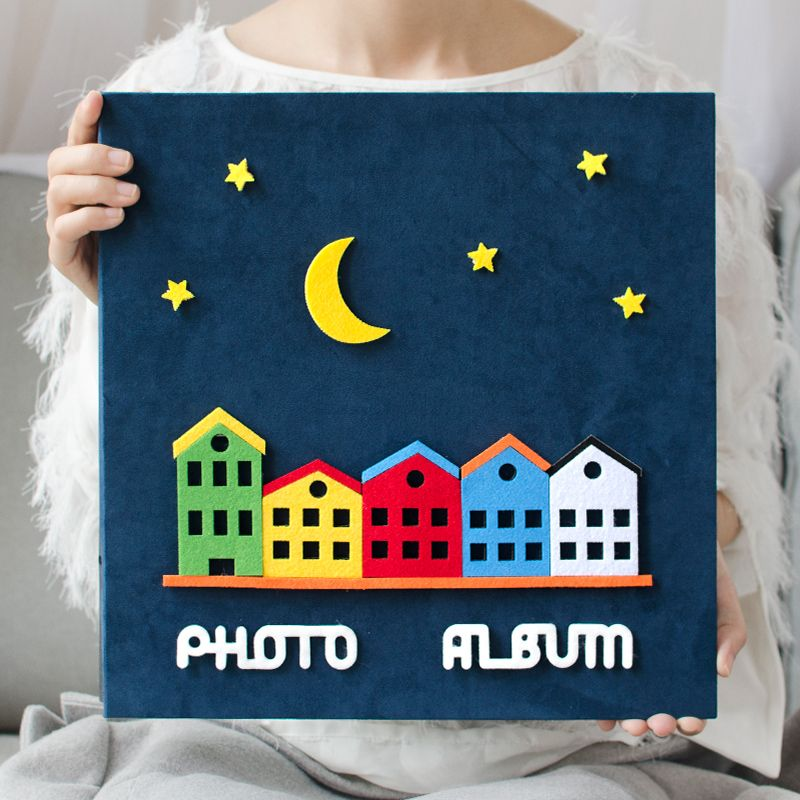 2017 new 6 inch photo album page type children family album creative cartoon baby grow album
