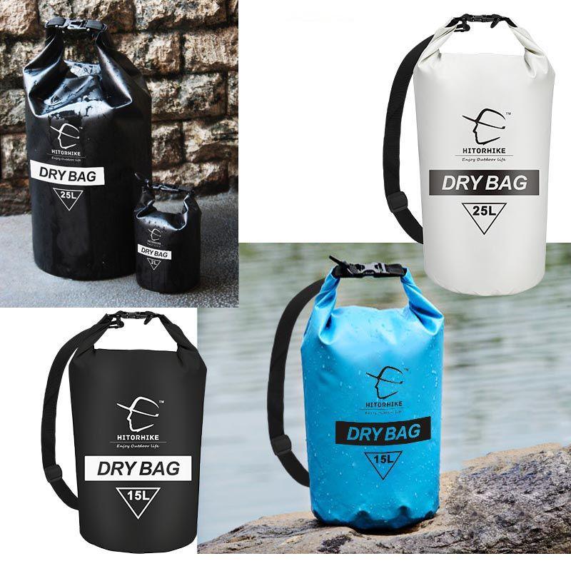 15L 25L natation sac étanche sac sec sac pour canoë Kayak Rafting sports de plein air sacs voyage Kit équipement sac de rangement 2018