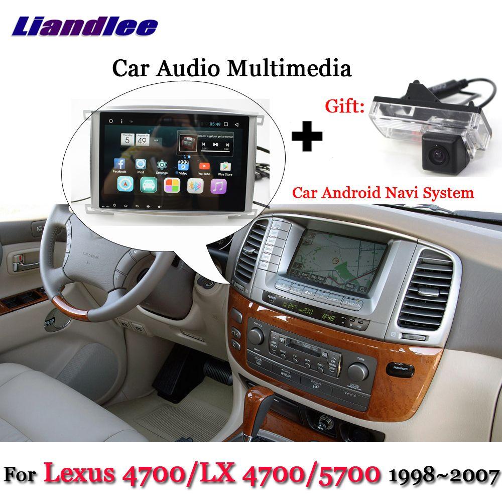 Liandlee Auto Android System Für Lexus LX 4700/LX4700/4700/5700 Stereo Radio BT GPS Navi KARTE navigation Bildschirm Multimedia