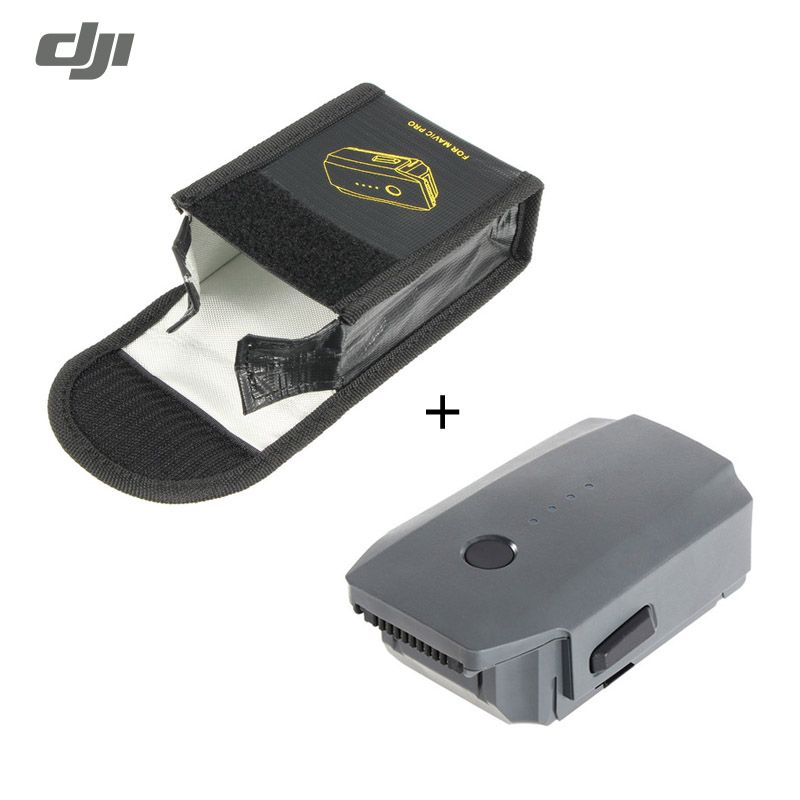 DJI Mavic Pro RC Quadcopter FPV Drone Spare Part Intelligent Flight Battery 11.4V 3830mAh Lip Battery With Battery Storage Bag