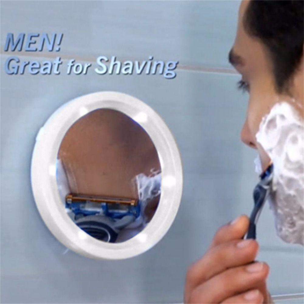 Tragbare 360 Grad-umdrehung Make-Up Spiegel Professionelle 8X Vergrößerung LED Helle Licht bilden Spiegel Locking Saugnapf