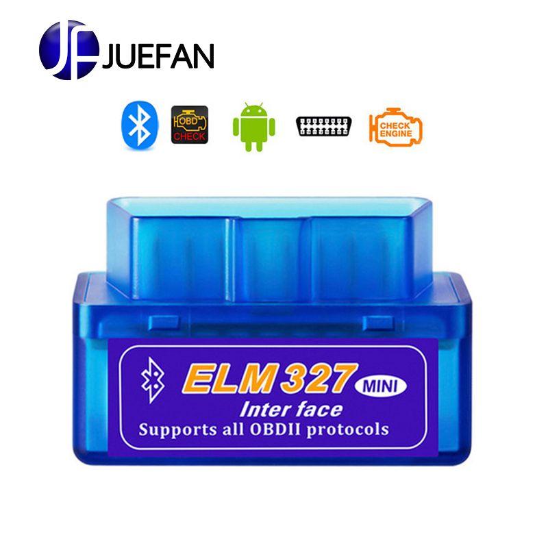 Mini outil de Diagnostic de voiture Bluetooth OBD2 ELM327 chaud pour Scanner Android/Symbian V2.1 OBD2 pour protocole OBDII