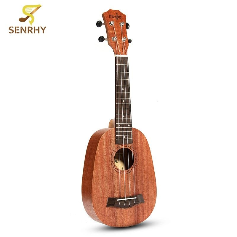 21'' Pineapple Style Mahogany Hawaii Ukulele Uke Electric Bass 4 Strings Guitar Guitarra For Musical <font><b>Instruments</b></font> Music Lovers