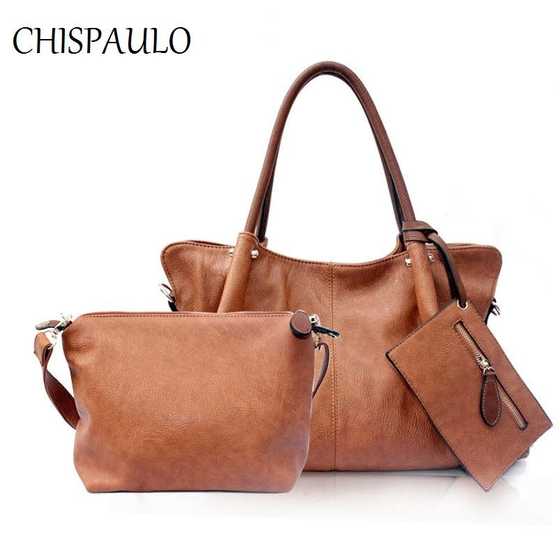 2018 Genuine Leather Shoulder Bags composite bags casual totes lady set Women Messenger Bag Fashion Female Satchel Handbag T610