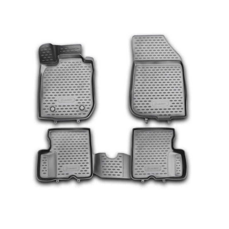 Auto Matten 3D salon Für RENAULT Duster 2WD, 2011-2015, 4 PCs (polyurethan)