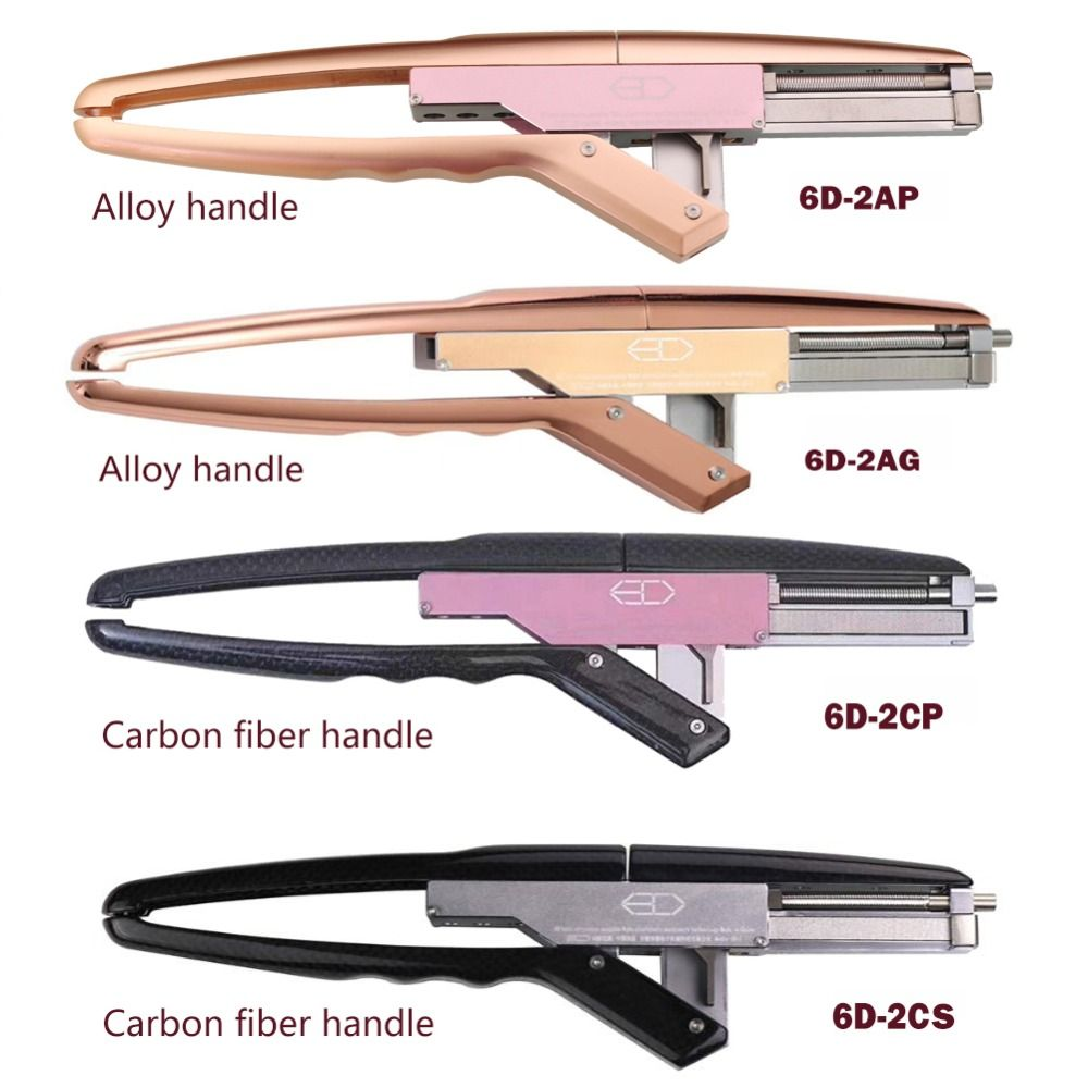 Top Human hair extension tools 6D hair extension machine virgin hair / Remy hair extension tools Efficient and easy to use