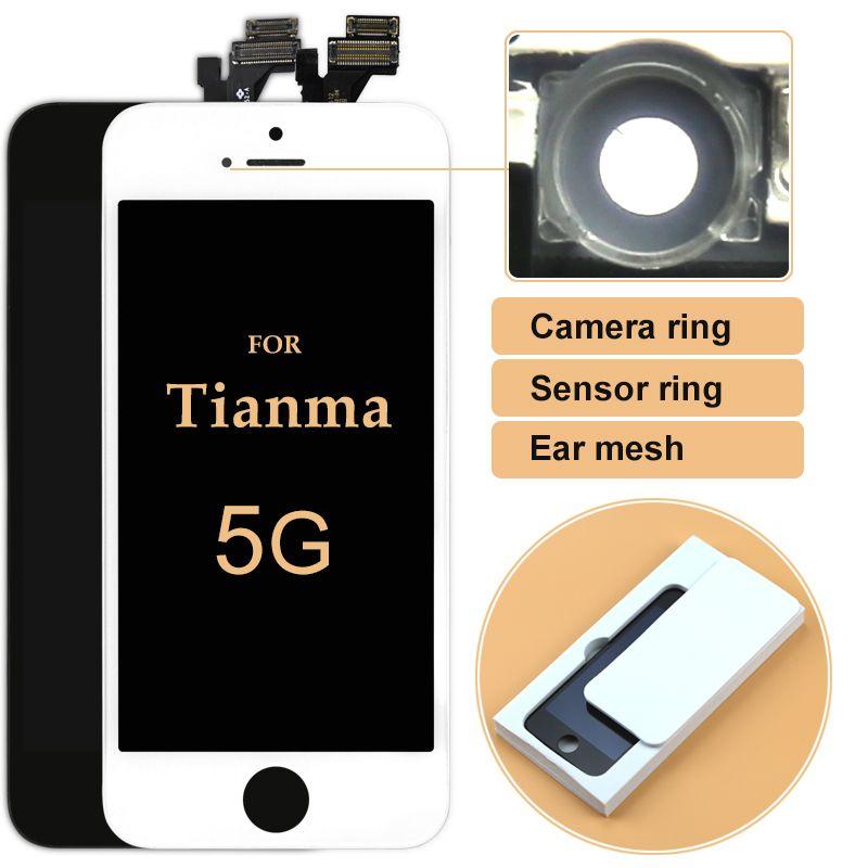 10 pièces pour iPhone 5 5G 5 s 5c LCD pour Tianma 100% Test avant l'expédition écran tactile écran tactile numériseur assemblée + caméra