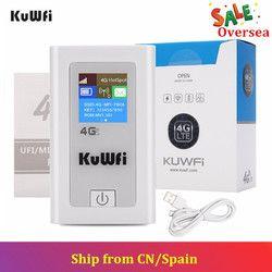 Kuwfi 5200 MAh Power Bank 3G/4G Wifi Rute 150Mbps CAT4 4G LTE Mobile WIFI hotspot dengan Slot Kartu SIM Bekerja dengan EU/Asia