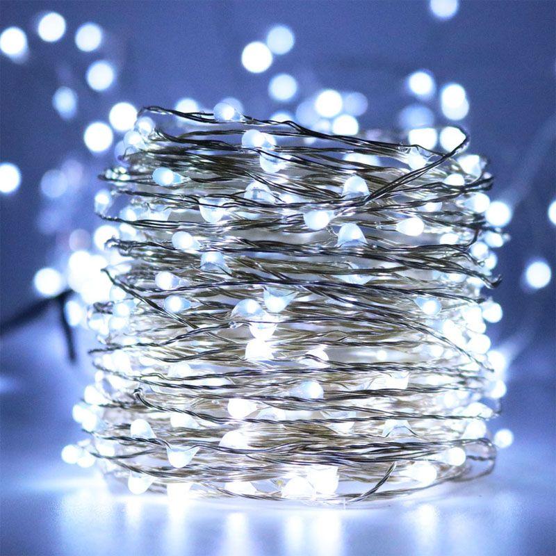 20 M 66ft LED fée étoilée chaîne lumières corde LED lumières décoration pour décoratif vacances de noël, mariage, fêtes, jardin