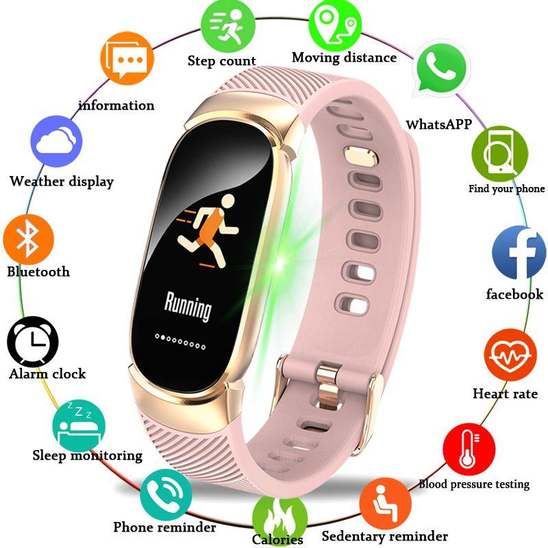 BANGWEI femmes Sport montre intelligente hommes LED étanche SmartWatch fréquence cardiaque pression artérielle podomètre montre horloge pour Android iOS